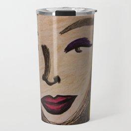 Untitled portrait (Gold) (2019) from MyMargins Travel Mug