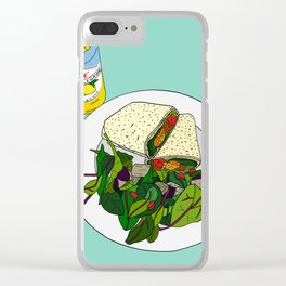Healthy Falafel Wrap Lunch Clear iPhone Case