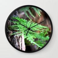 fern Wall Clocks featuring fern by  Agostino Lo Coco