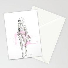 Damsel Pencil Sketch 2 Stationery Cards