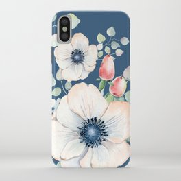 Summer Flowers Blue #society6 #buyart iPhone Case