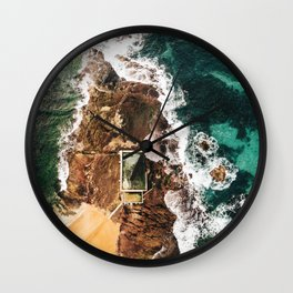 natural pool in manly beach australia Wall Clock