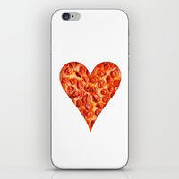 pizza iPhone & iPod Skins featuring PIZZA by Good Sense