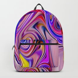 Waves and swirls, abstract, decorative patterns, colorful piece no 22 Backpack