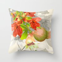 pomegranate Throw Pillows featuring Pomegranate. by Nato Gomes