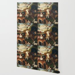 The Peaceable Kingdom by Edward Hicks Wallpaper