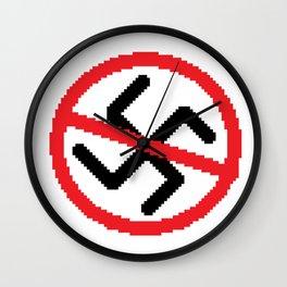 ANTI NAZISM Wall Clock