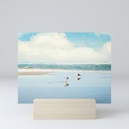 ocean reflections Mini Art Print