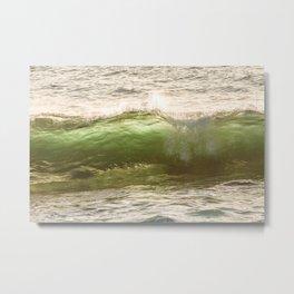 Green light water surf Metal Print