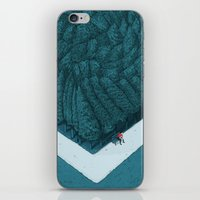 silent iPhone & iPod Skins featuring Blue Silent by Andrea Dalla Barba