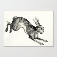 hare Canvas Prints featuring HARE by Riku Ounaslehto
