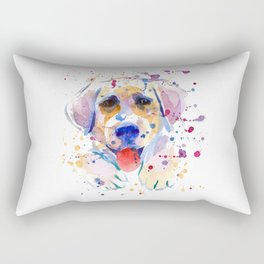 White labrador puppy portrait Rectangular Pillow