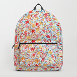 Indian summer leaves - handpainted watercolor pattern Backpack
