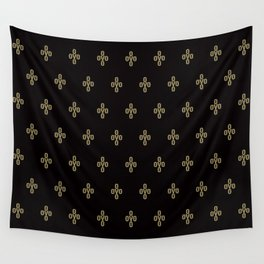Pom Pom - Black Wall Tapestry