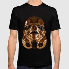 STAR | WARS - Golden Stormtrooper Helmet Mens Fitted Tee MEDIUM Black