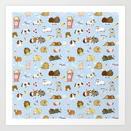 Guinea Pig Party! - Cavy Cuddles and Rodent Romance Art Print