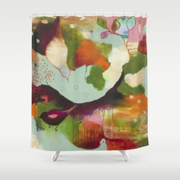 """Clouds Gave My Soul An Idea"" Original Painting by Flora Bowley Shower Curtain"