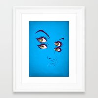 randy c Framed Art Prints featuring C. by CranioDsgn