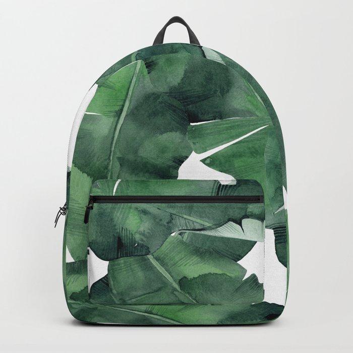 Tropical Island Leaves Backpack