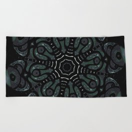 Dark Mandala #4 Beach Towel