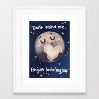 enerjax Framed Art Prints featuring Pluto - I love myself by enerjax