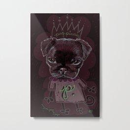 Pug Princess Metal Print