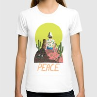 peace T-shirts featuring Peace by Colourbox