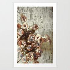 Classic Pastel Floral Art Print