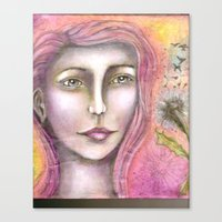 charmaine olivia Canvas Prints featuring Olivia by Art by Sandy & Mariah Gonyea