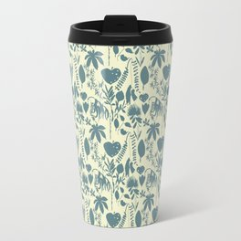 Native Flora On Ecru Pattern Travel Mug