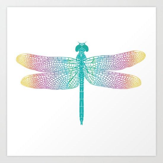 dragonfly v1 Art Print