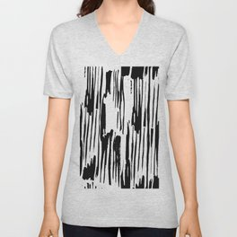 Modern Stripes Black Unisex V-Neck