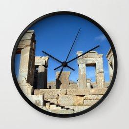 Palace of Darius Ruins Persepolis, Persia Iran Wall Clock