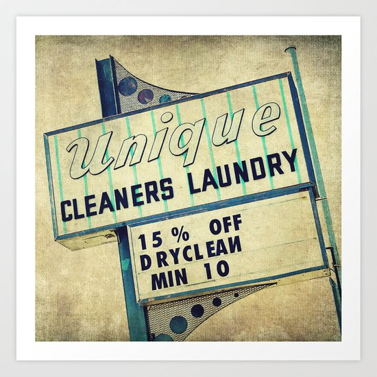 Unique Laundry Sign Art Print