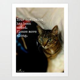 Complaint Department Art Print