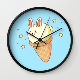 Bunny-lla Ice Cream Wall Clock