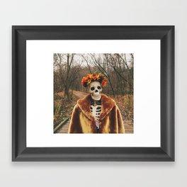 Autumn-Winter Princess Framed Art Print