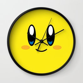 Kirby Face (Yellow) Wall Clock