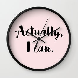 Actually, I can. Wall Clock