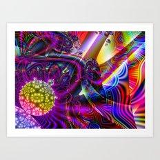 BBQSHOES: Fractal Digital Art Design 3114b Art Print