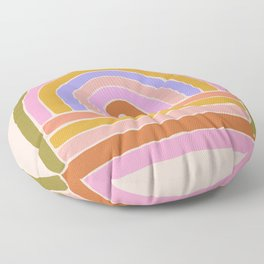 rainbow : of the heart Floor Pillow