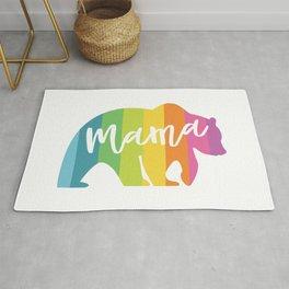 MAMA BEAR RAINBOW Rug
