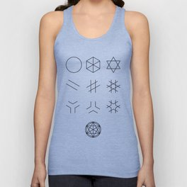 The Story of Geometry Unisex Tank Top