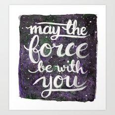 The Force - Violet Art Print