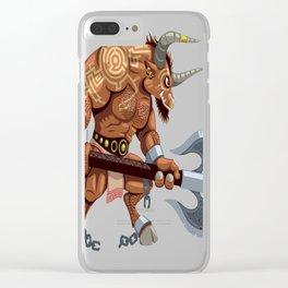 Minotaur Clear iPhone Case
