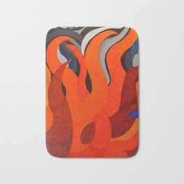 Battle of the Elements: Fire Bath Mat