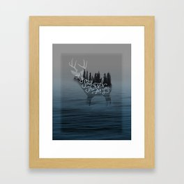 Psalm 42: My Soul Thirsts for you Framed Art Print