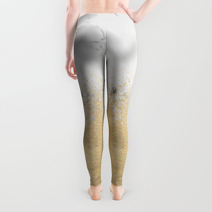 Gold Dust on Marble Leggings