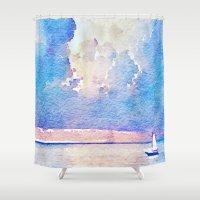 sail Shower Curtains featuring Sail by Acacia Alaska
