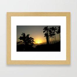hawaii Sunset Series C Framed Art Print